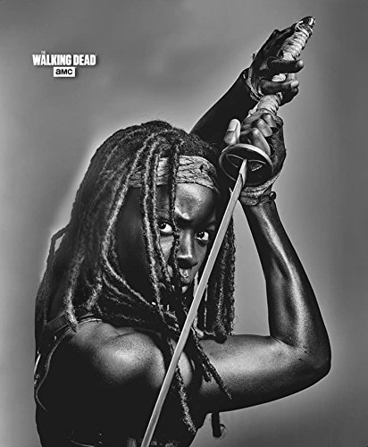 Recognizable Costumes Movie (Newly Released! AMC'S The Walking Dead Michonne and her Trusty Sword Medium Weight Blanket)