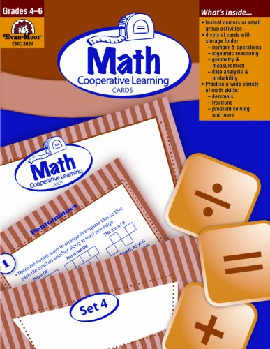 Math Cooperative Learning Cards (Grades 4-6)