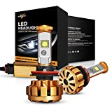 Auxbeam LED Headlight Bulbs F-16 Series LED Headlights with 2 Pcs of H11 headlight Bulbs 60W 6000lm CREE LED...