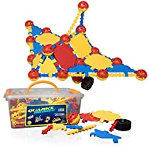 "USA Toyz STEM Engineering Building Kids Toys - ""QUARKS"" 160 Pc STEM Building Educational Toys with Multilink Spheres for Kids Toys Construction"