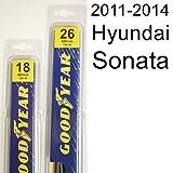 "Hyundai Sonata (2011-2014) Wiper Blade Kit - Set Includes 26"" (Driver Side), 18"" (Passenger Side) (2 Blades Total)"