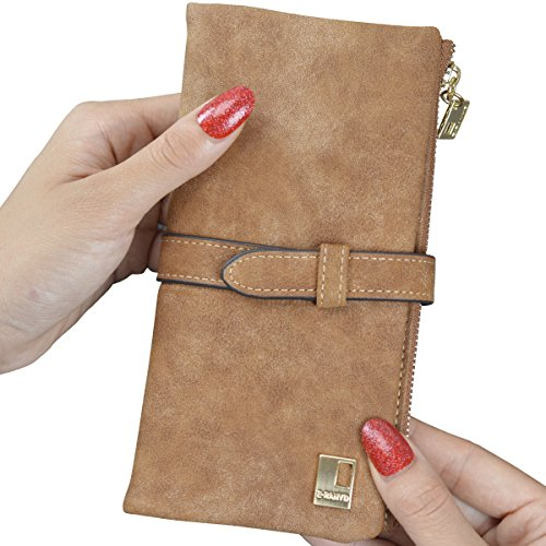 UPC 604776900085, Jastore Women Ladies Long Matte PU Leather Clutch Wallets Card Holder Purse (Brown)