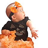Sagton® Baby Halloween Costume Newborn Baby Girl Boy Outfits Set Tulle Tutu Dress Romper Tops+Leg Warmers+Headband
