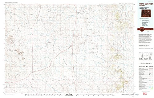 Reno Junction WY topo map, 1:100000 scale, 30 X 60 Minute, Historical, 1974, updated 1993, 24.2 x 38 IN - Tyvek