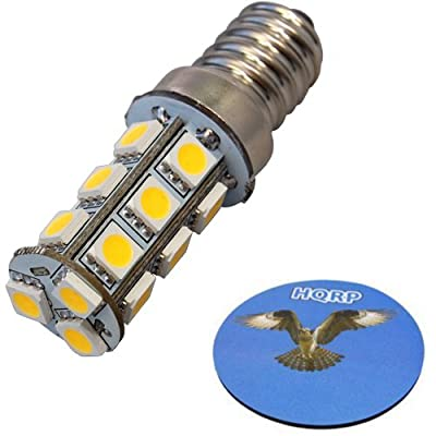 HQRP Edison Screw Base E14 Warm White 3100K LED Bulb 10-30V DC for Marine Boat Lighting / Reading Lighting / Under cabinet lighting and Art lighting replacement plus HQRP Coaster