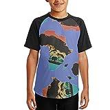 Africa Map Youth 3D Print Baseball T-Shirt Short Sleeve Round Neck Raglan Tees