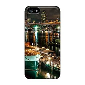 Hot Cases For For Iphone 5/5S Phone Case Cover Skin - Sydney Port At Night