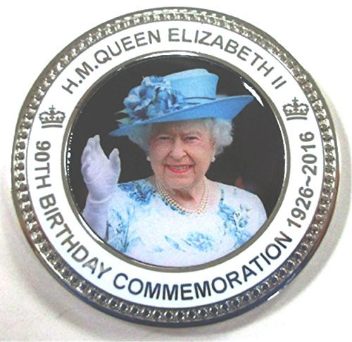 HM Queen Elizabeth II Ninetieth 90th Birthday Commemorative Coin Medal In Presentation Box / Case by 1000 Flags