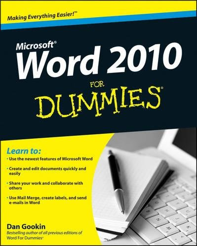 Price comparison product image Word 2010 For Dummies