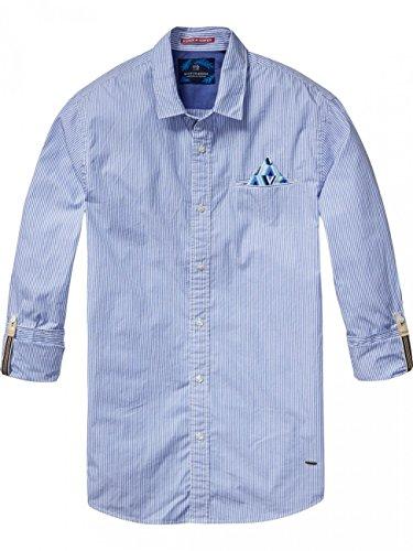 Scotch & Soda Stripe Slim Fit Button-Down Shirt (Combo D, Large)