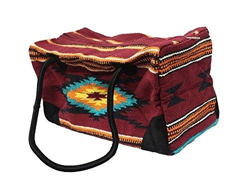 Weekender Travel Bag Fully Lined Suede Handles Southwest Design I