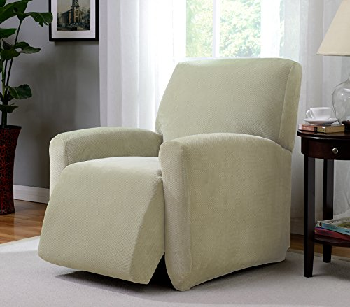 Heavyweight Spandex Tights - Madison PIQ-LGRECL-CR Stretch Pique large Recliner Slipcover Stretch Pique Cream,Large Recliner