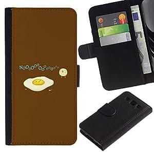 All Phone Most Case / Oferta Especial Cáscara Funda de cuero Monedero Cubierta de proteccion Caso / Wallet Case for Samsung Galaxy S3 III I9300 // Funny Sad Egg Omelet