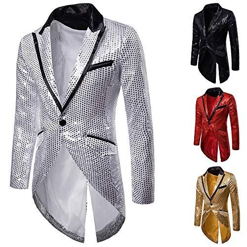 Button Tops Robe Manteau De Veste Top One Homme Mode Chemise Adeshop Irrégulière Machaon Mèche Blazer Affaires Décontractée Soirée Paillette xYwYqR7r8