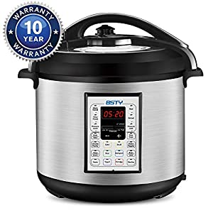 BSTY Electric Pressure Cooker with 13-in-1 Cooking Functions, Programmable 8Qt Slow Cooker with Stainless Steel Inner… 13
