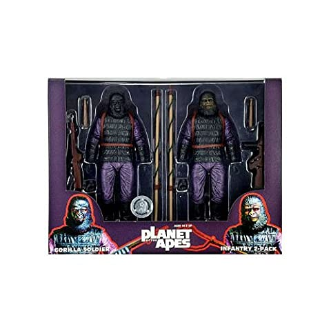 Star Images 7-inch Planet Of The Apes Gorilla Soldier Action Figure (pack Of 2) (Planet Of Apes 2 Pack)