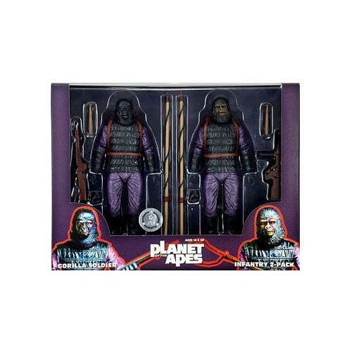 Star Images 7-inch Planet Of The Apes Gorilla Soldier Action Figure (pack Of 2)