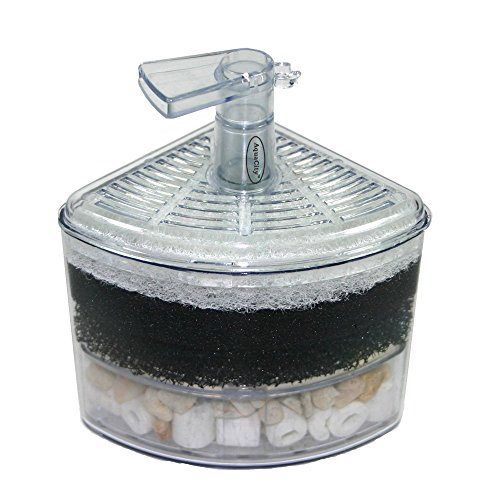 Aquapapa Corner Filter Bio Sponge Ceramic Air Pump Driven for Fry Shrimp Nano Fish Tank Aquarium XY-2008 (Ship from CA USA)