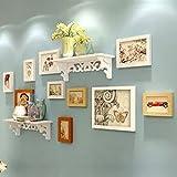 LQQGXL Creative solid wood white original Hu set photo wall Photo frame