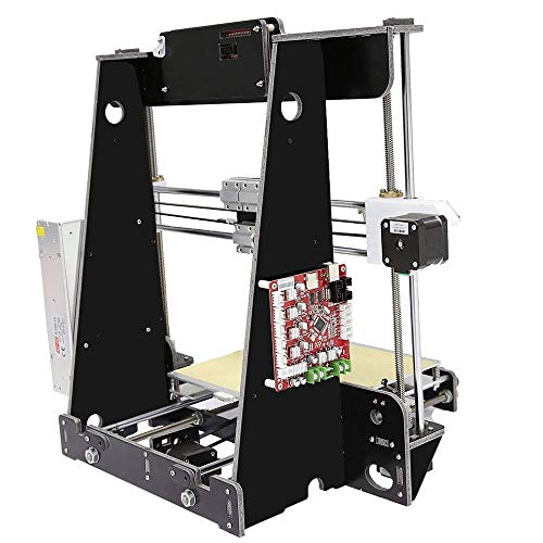 Resume Print 3D Printer A8 High Precision Large Size Desktop 3D Printer Kit Reprap Prusa I3 Upgrade DIY Self-Assembled LCD PLA/ABS Filament 1.75MM DIY 3D Printer Kit(220x220x240mm)