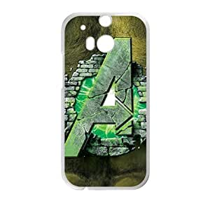 HTC One M8 Cell Phone Case White Avengers Hulk Bust LSO7829421