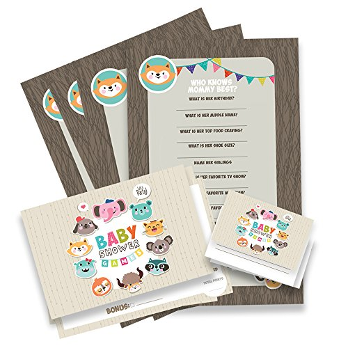 Paper and Party Baby Shower Games Gender Reveal - 45 pcs. Neutral Baby Shower Boy Or Girl