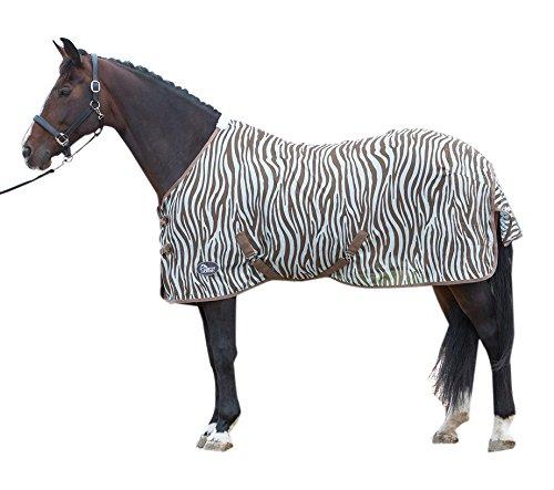Harry 's Horse 32205026–145cm–Manta antimoscas Malla, Estándar con Correas, M, Zebra Plume