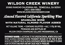 NV Wilson Creek Almond Sparkling I Love You Edition 750mL