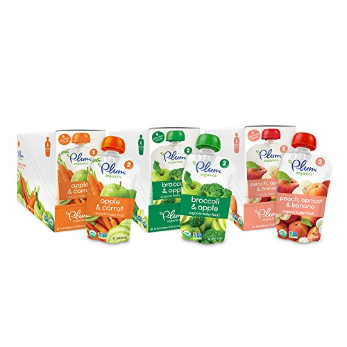 Plum Organics Baby Second Blends Fruit and Veggie Variety Pack, 18 Count