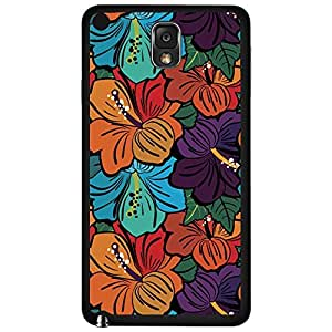 Colorful Floral Print Hard Snap on Phone Case (Note 3 III)