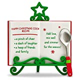 Hallmark Keepsake ''Happy Christmas Recipe'' Holiday Ornament