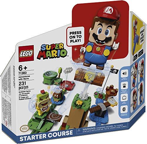 LEGO Super Mario Adventures with Mario Starter Course 71360 Building Kit, Interactive Set Featuring Mario, Bowser Jr…