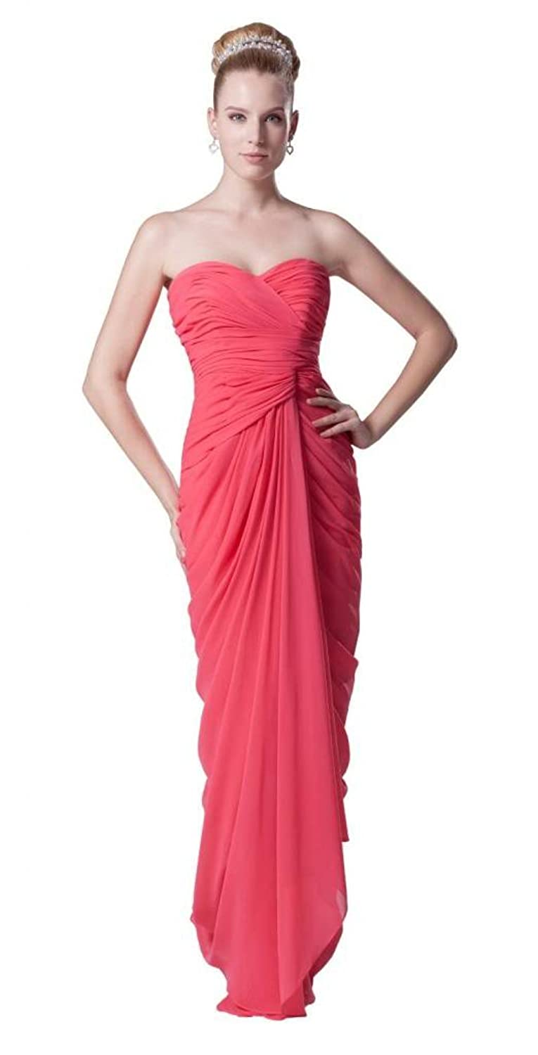 Orifashion Charming Strapless Deep Pink Sheath Prom/Evening Dress (Model EDSHER0128)