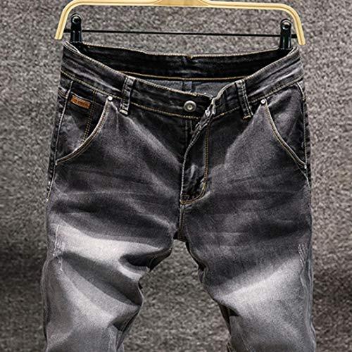 Strappati Hop Grigio Sottile Vintage Moto Fit Skinny Zip Liuchehd Hip Jeans Slim 2019 Uomo Streetwear Denim Pantaloni aABzzqxI7w