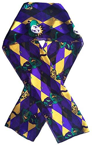 Mardi Gras Scarf Fleur De Lis By Crown (Mardi Gras Purple) (Mardi Gras Fashion)
