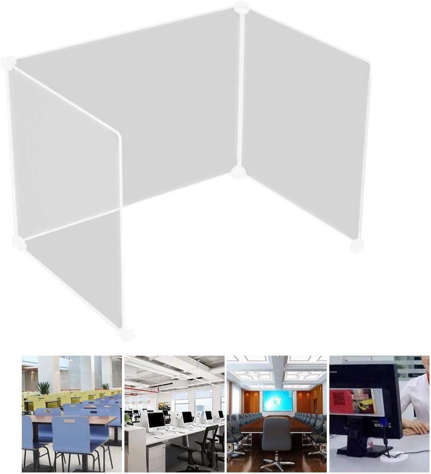 "AOFEI Transparent Desk Divider Three - Panel Table Baffle DEST Partition Desktop Resin Divider Panel Barrier Adjustable Shield for Office Classroom 25.1"" x 14.1"" x 14.1"""
