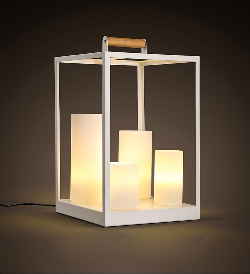 Tischleuchte Scandinavian modernen minimalistischen Wohnzimmer Schlafzimmer Nachttischlampe kreative Mode Schmiedeeisen Kerze warmen Tischlampe Nachttischlampen
