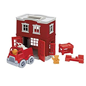 Amazon.com: Green Toys Fire Station Playset: Toys & Games
