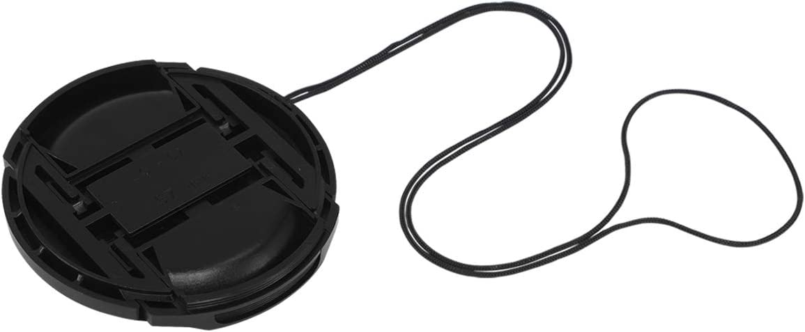 Haoge 37mm Center Pinch Snap On Front Lens Cap Cover with Cap Keeper for Canon Nikon Sony Fujifilm Sigma Tamron and Other 37mm Filter Thread Lens