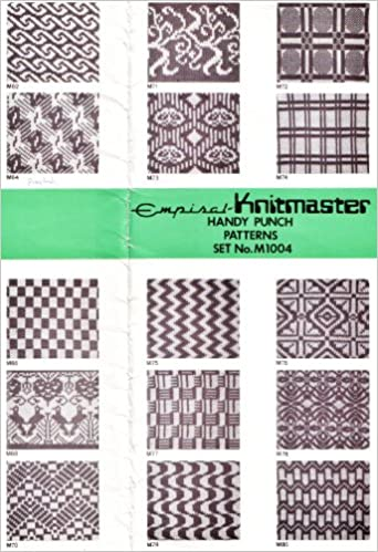 Empiral Knitmaster Handy Punch Patterns Set No M1004 20 Punchcard Designs For Any Japanese 24 Stitch Punchcard Machines Ready To Punch Onto Your Own Blank Punchcards Please See Scans For
