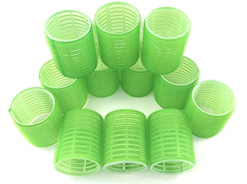 Jumbo Hair Rollers Curlers Self Grip Holding Rollers Hairdressing Curlers Hair Design Sticky Cling Style For DIY Or Hair Salon By Kamays (Gripping Sticky Rollers 48mm/1.9Large Size12PCS)Random Color