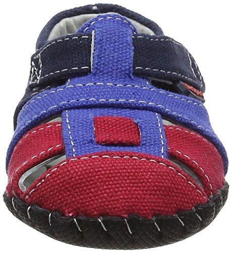 pediped Baby, Jungen Harvey Lauflernschuhe, Braun Blue (Navy Red)