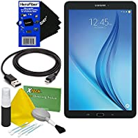 "Samsung Galaxy Tab E 9.6"" 16GB Wi-Fi Tablet (Black) SM-T560NZKUXAR + USB Cable + 5pc Deluxe Cleaning Kit + HeroFiber Ultra Gentle Cleaning Cloth"