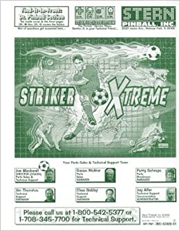 STRIKER XTREME Pinball Service & Repair Manual: Stern