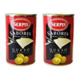 Serpis Manzanilla Green Spanish Olives Stuffed with Manchego Cheese (4.59 oz. (Pack of 2))
