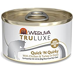 Weruva Truluxe Cat Food, Quick 'N Quirky With Chicken & Turkey In Gravy, 3Oz Can (Pack Of 24)