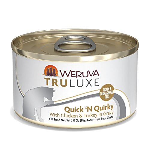 Weruva Truluxe Cat Food, Quick N Quirky With Chicken & Turkey In Gravy, 3Oz Can (Pack Of 24)