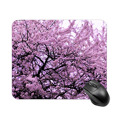 Atunme Mouse Pad Pink Blossom Tree Mousepad Non-Slip Rubber Gaming Mouse Pad Rectangle Mouse Pads for Computers Laptop]()