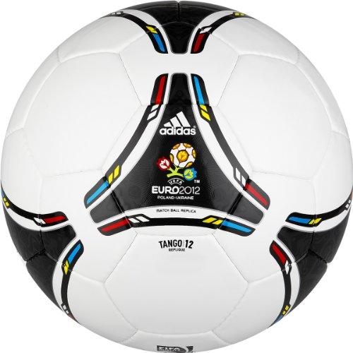 Adidas Euro Ball - adidas Euro 2012 Replique Soccer Ball (White, Black, Size 5)