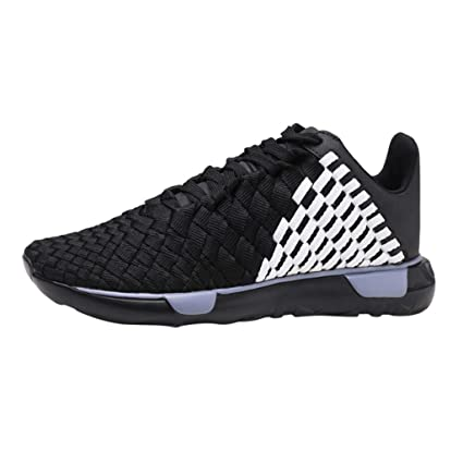 2dfe818c543a7 Amazon.com: Men's Woven Mesh Sneakers Thick-Soled Straps Breathable ...